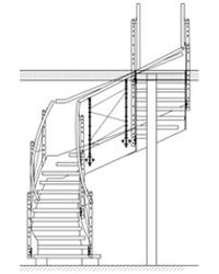 Лестница на прямых и радиусных тетивах