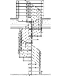 Лестница на больцах вокруг столба